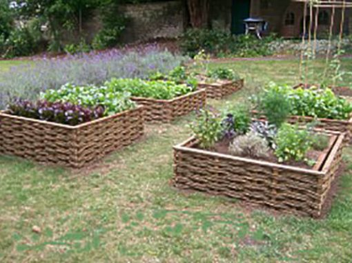 Raised Vegetable Beds in a Garden near Bath