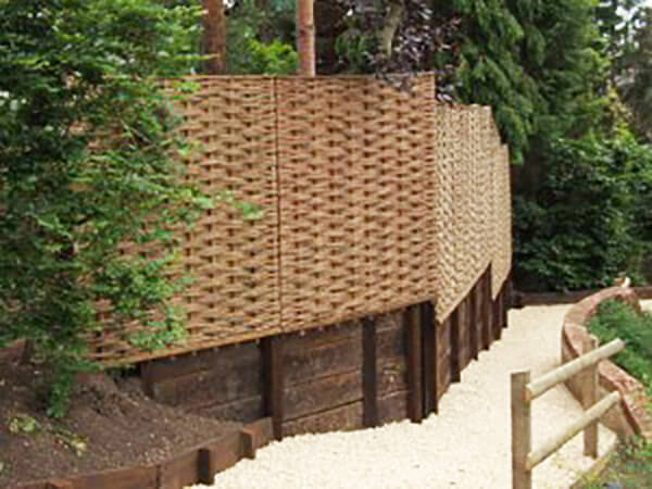 Willow Fencing In Garden At Stockbridge Hampshire