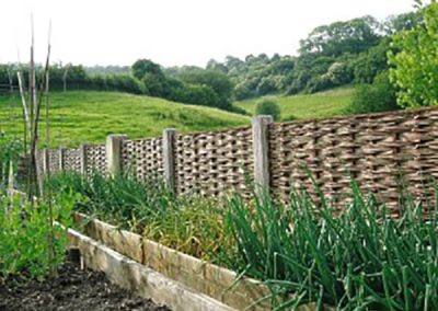 Windbreak Fencing for Garden near Bath