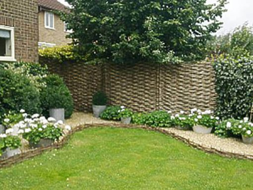 Woven willow edgings