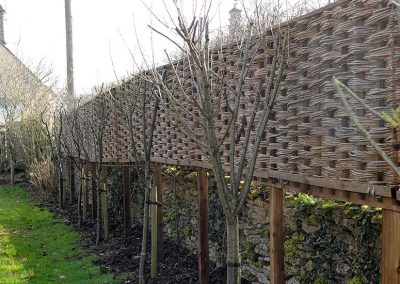 On-a-wall fence panels