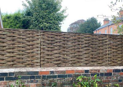 Garden fence in Worcester