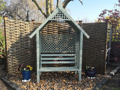 Garden in Canterbury using willow hurdles